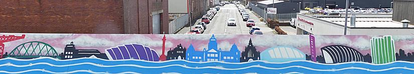 GRAFFITI Mural Is Part Of Bike Path Bridge Makeover