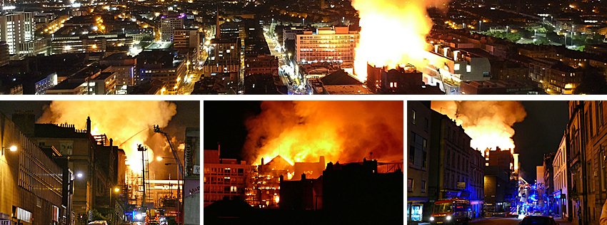 MASSIVE Blaze Engulfs Glasgow Art School Mackintosh Building And The 02 ABC