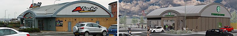 DRIVE-Thru Starbucks Plan For Govan Pizza Hut Building