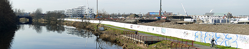 WORK In Progress — Massive Dalmarnock Riverfront Housing Development