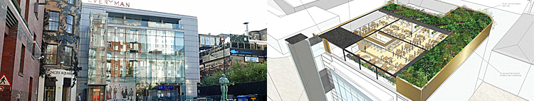 PLAN For Open Air Rooftop Dining And Bar Area At Princes Square