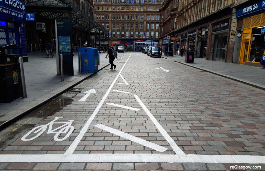 MORE Space For People At Central Station Entrances Means One-Way Traffic