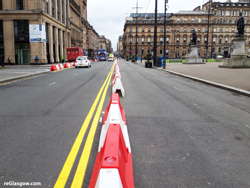 IN Pictures — The 'New Normal' For The Roads Around George Square