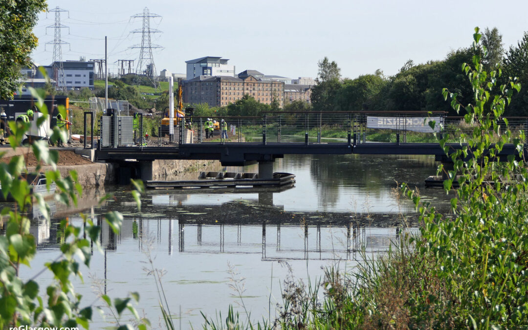 IN Pictures — Garscube Canal Bridge Nearly Ready