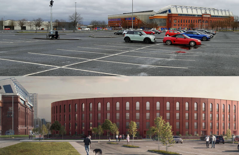 PLANNERS Asked To Approve 160 Flats On Car Park Owned By Rangers