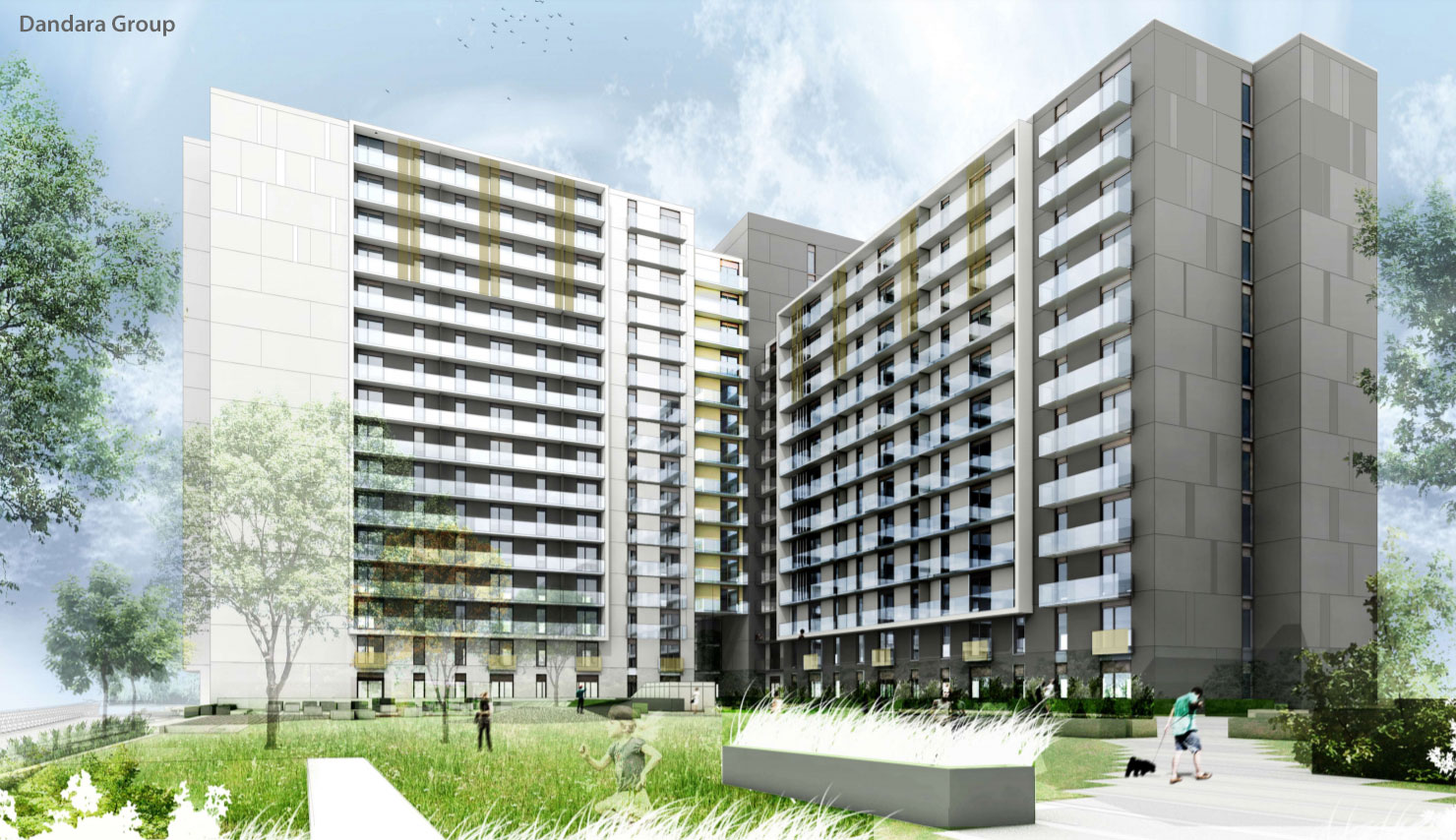 SIXTEEN-Floor Block With Hundreds Of Apartments Progressing At Glasgow Harbour