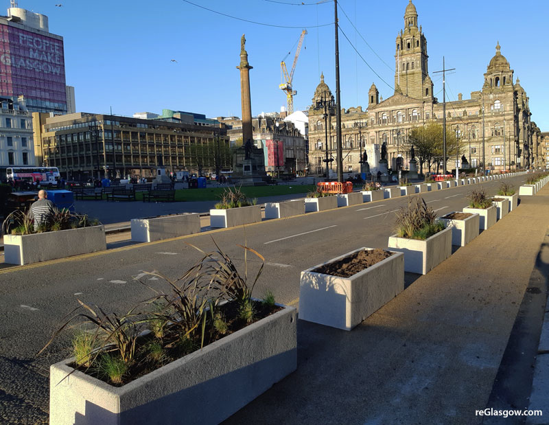 IN Pictures — Spaces For People Measures At George Square
