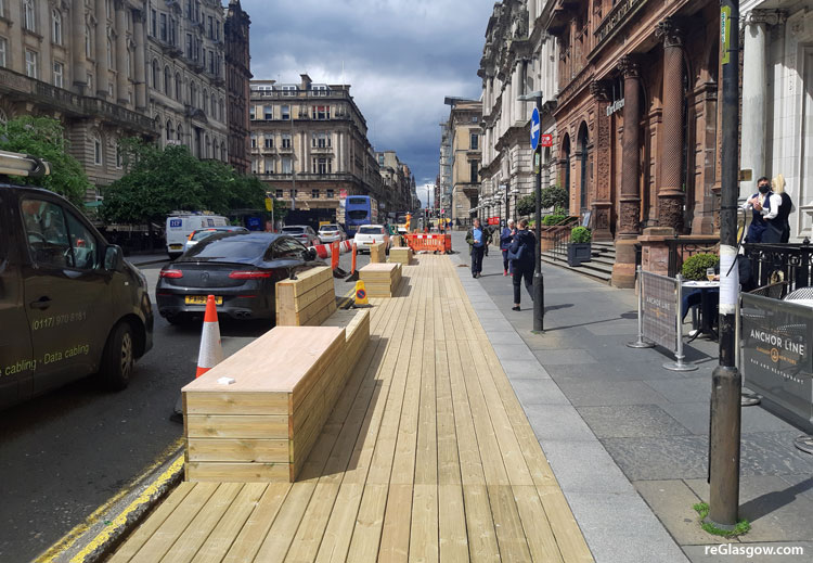 IN Pictures — Parking Bays Give Way To 'Street Furniture'