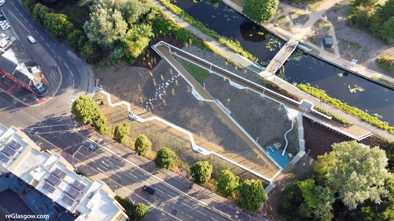 IN Pictures — Glasgow's New Zig-Zag Canalside Cycle Link