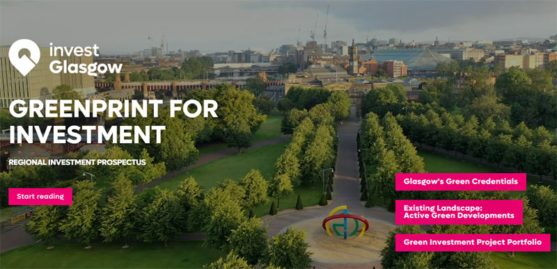 GLASGOW Launches £30Billion 'Greenprint' Of Transformative Climate Investment Projects
