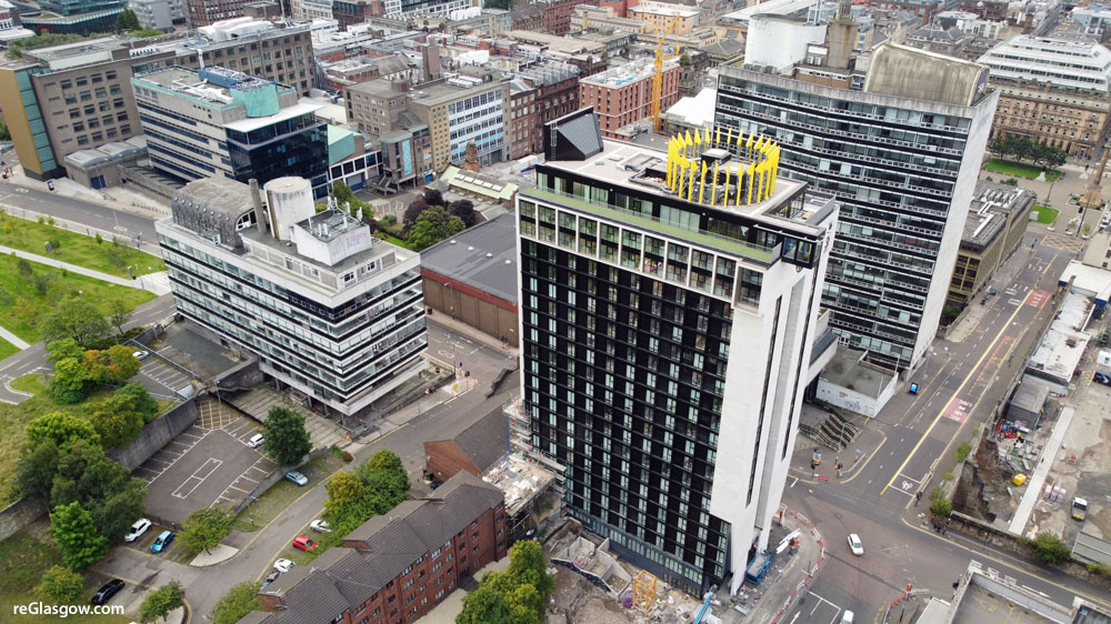 IN Pictures — Glasgow's New High-Rise Student Block Complete With Rooftop 'Crown'